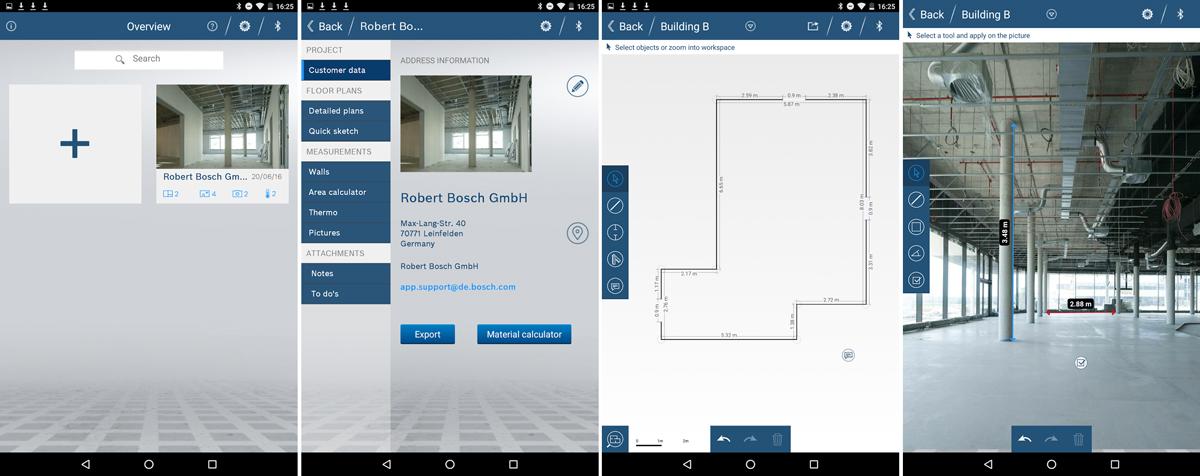 Aufmaß erstellen mit der Bosch Measuring Master App
